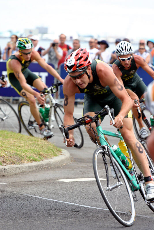 cycliste de triathlon
