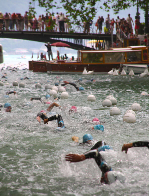 course natation lac Annecy